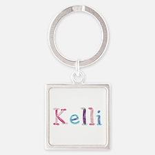 Kelli Princess Balloons Square Keychain