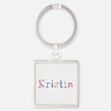 Kristin Princess Balloons Square Keychain