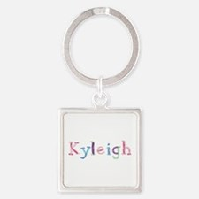 Kyleigh Princess Balloons Square Keychain