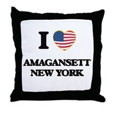 I love Amagansett New York Throw Pillow