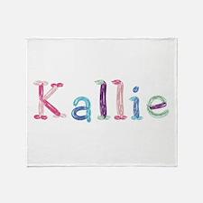 Kallie Princess Balloons Throw Blanket