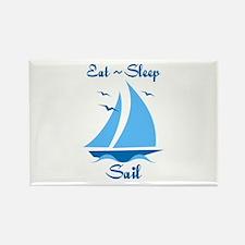 Eat Sleep Sail Rectangle Magnet