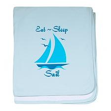 Eat Sleep Sail baby blanket