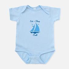 Eat Sleep Sail Infant Bodysuit