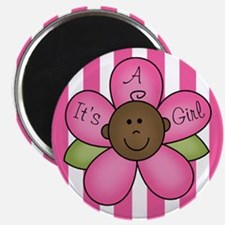It's A Girl African American Magnet