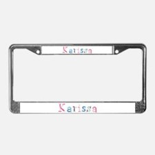 Karissa Princess Balloons License Plate Frame