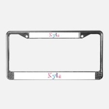 Kyla Princess Balloons License Plate Frame