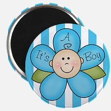 It's a Boy Baby flower Magnet
