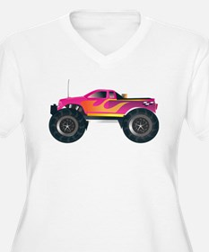 Monster Truck Pink Plus Size T-Shirt