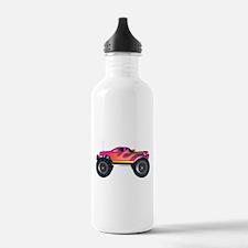 Monster Truck Pink Water Bottle