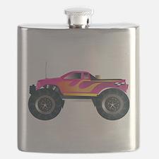 Monster Truck Pink Flask