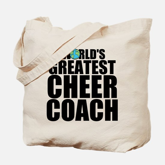 World's Greatest Cheer Coach Tote Bag