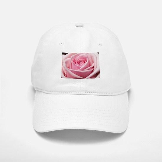 Light Pink Rose Close Up Baseball Baseball Cap