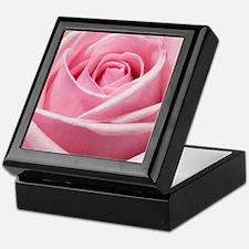 Light Pink Rose Close Up Keepsake Box