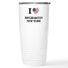I love Binghamton New Y Travel Mug
