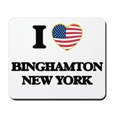 I love Binghamton New York Mousepad