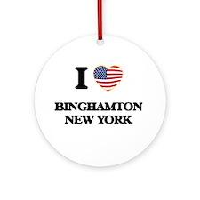 I love Binghamton New York Ornament (Round)