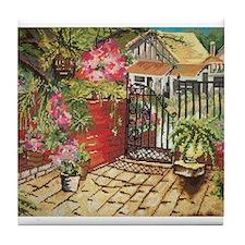 Needlepoint Terrace Tile Coaster