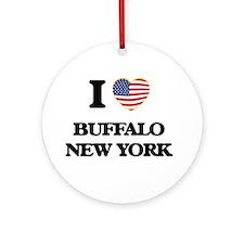 I love Buffalo New York Ornament (Round)