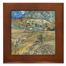 Vincent Van Gogh Landscape At Saint-Remy Framed Ti