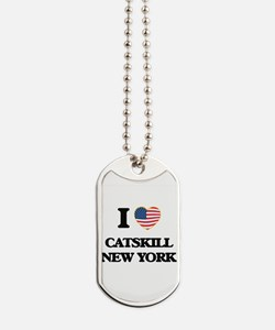 I love Catskill New York Dog Tags