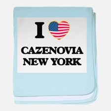 I love Cazenovia New York baby blanket