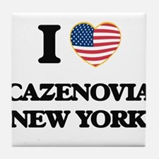 I love Cazenovia New York Tile Coaster