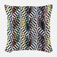Rainbow Zebra Chevron Woven Throw Pillow