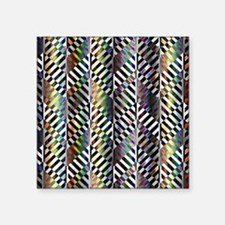 "Rainbow Zebra Chevron Square Sticker 3"" x 3"""