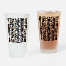Rainbow Zebra Chevron Drinking Glass