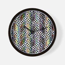 Rainbow Zebra Chevron Wall Clock