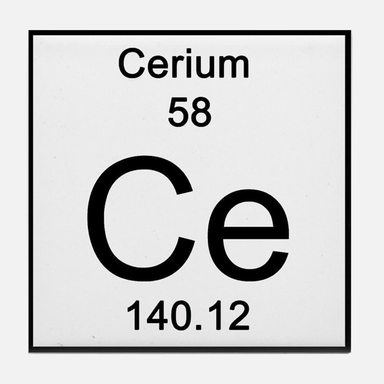 Periodic Table Cerium ...