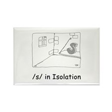 /s/ in Isolation Rectangle Magnet