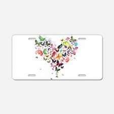 Heart of Butterflies Aluminum License Plate
