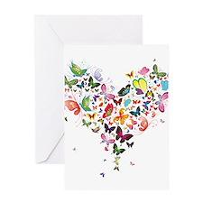 Heart of Butterflies Greeting Cards