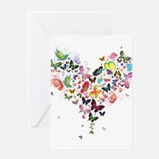 Heart of Butterflies Greeting Cards