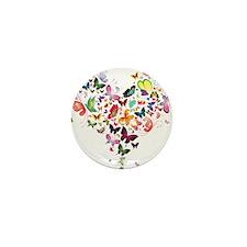 Heart of Butterflies Mini Button