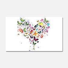 Heart of Butterflies Car Magnet 20 x 12