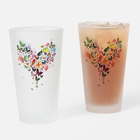 Heart of Butterflies Drinking Glass