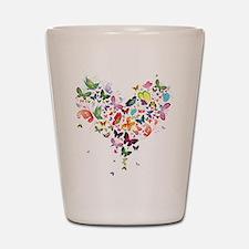 Heart of Butterflies Shot Glass