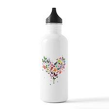 Heart of Butterflies Water Bottle