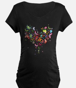 Heart of Butterflies Maternity T-Shirt