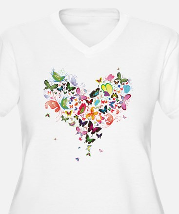 Heart of Butterflies Plus Size T-Shirt