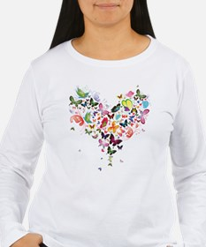Heart of Butterflies Long Sleeve T-Shirt