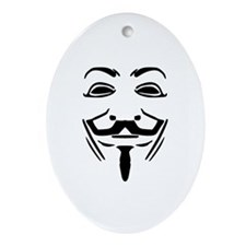 Guy Fawkes Ornament (Oval)