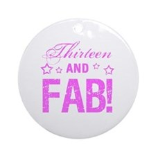 Fabulous 13th Birthday Round Ornament