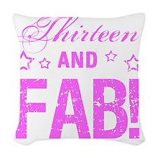 Fabulous 13th Birthday Woven Throw Pillow