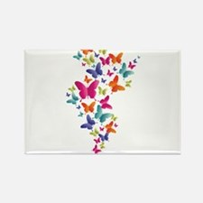 Multi Color Flying Butterflies Magnets