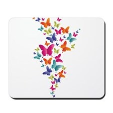 Multi Color Flying Butterflies Mousepad