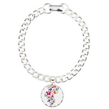 Multi Color Flying Butterflies Bracelet
